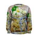 Potato salad in a jar on wooden Women s Sweatshirt View1