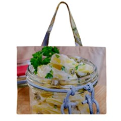 Potato salad in a jar on wooden Zipper Mini Tote Bag