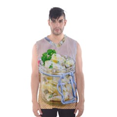 Potato Salad In A Jar On Wooden Men s Basketball Tank Top