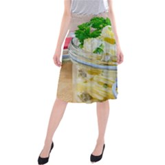 Potato salad in a jar on wooden Midi Beach Skirt