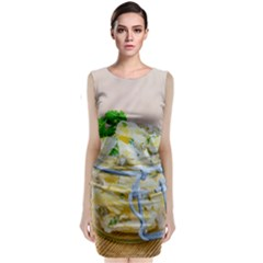 Potato Salad In A Jar On Wooden Classic Sleeveless Midi Dress