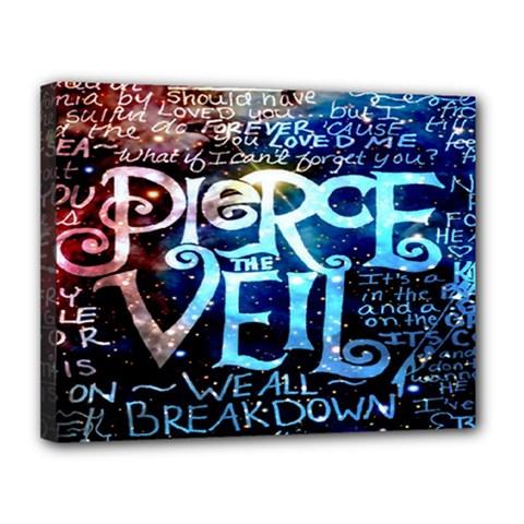 Pierce The Veil Quote Galaxy Nebula Canvas 14  x 11
