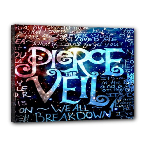 Pierce The Veil Quote Galaxy Nebula Canvas 16  x 12