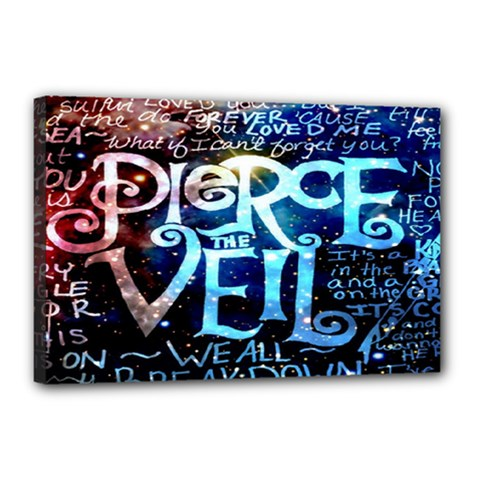 Pierce The Veil Quote Galaxy Nebula Canvas 18  X 12