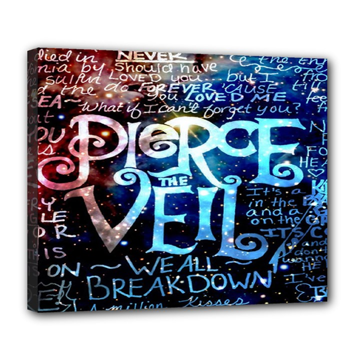 Pierce The Veil Quote Galaxy Nebula Deluxe Canvas 24  x 20