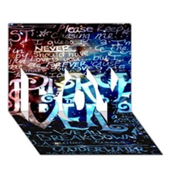Pierce The Veil Quote Galaxy Nebula Boy 3d Greeting Card (7x5)