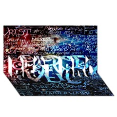 Pierce The Veil Quote Galaxy Nebula Best Bro 3d Greeting Card (8x4)