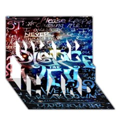 Pierce The Veil Quote Galaxy Nebula Work Hard 3d Greeting Card (7x5)