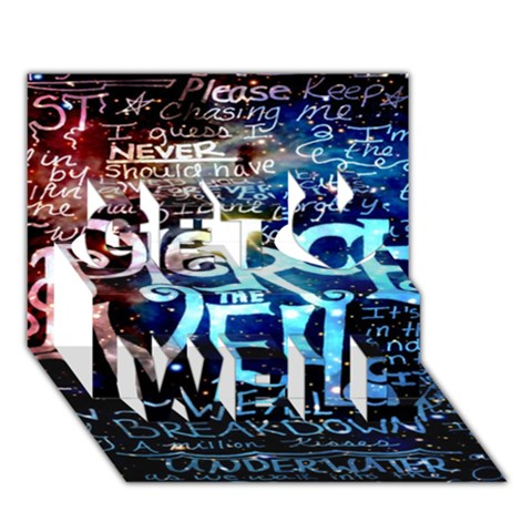 Pierce The Veil Quote Galaxy Nebula Get Well 3D Greeting Card (7x5)