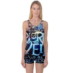 Pierce The Veil Quote Galaxy Nebula One Piece Boyleg Swimsuit