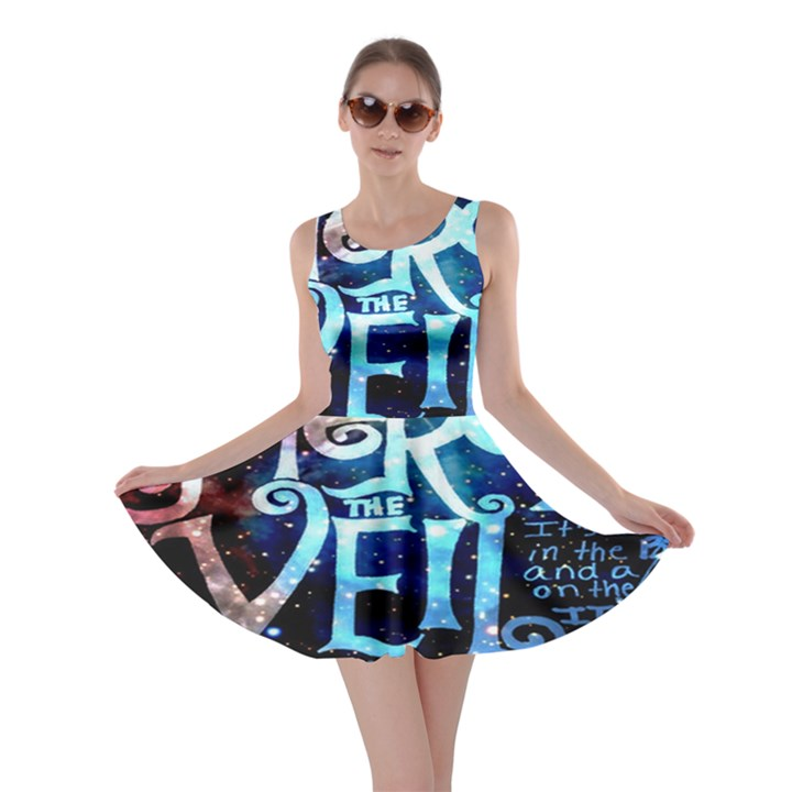 Pierce The Veil Quote Galaxy Nebula Skater Dress
