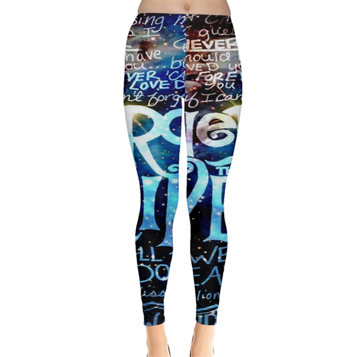 Pierce The Veil Quote Galaxy Nebula Leggings