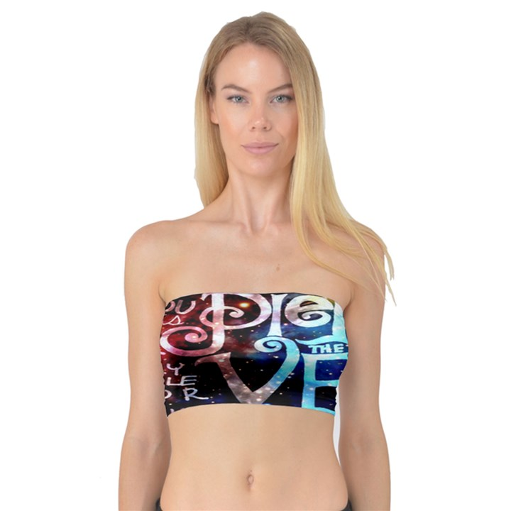 Pierce The Veil Quote Galaxy Nebula Bandeau Top