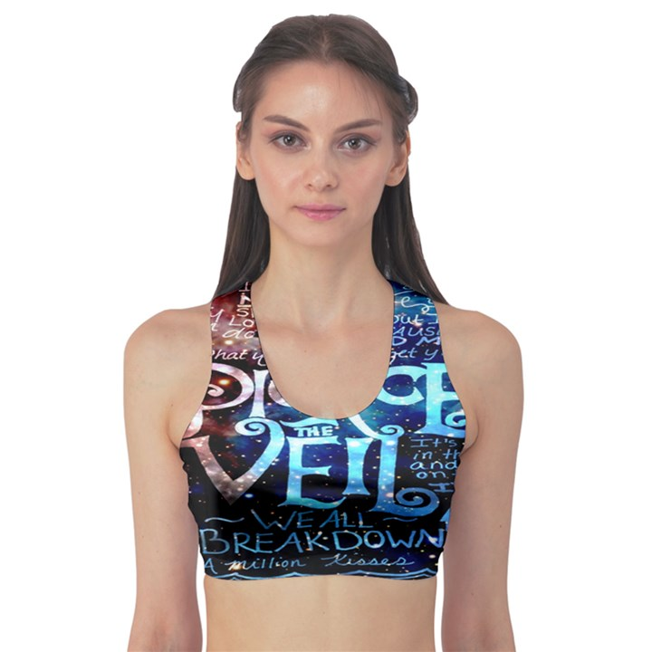 Pierce The Veil Quote Galaxy Nebula Sports Bra