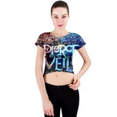 Pierce The Veil Quote Galaxy Nebula Crew Neck Crop Top