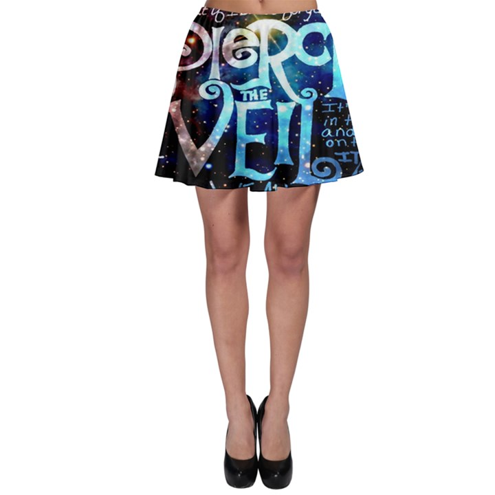 Pierce The Veil Quote Galaxy Nebula Skater Skirt