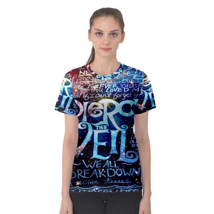 Pierce The Veil Quote Galaxy Nebula Women s Sport Mesh Tee
