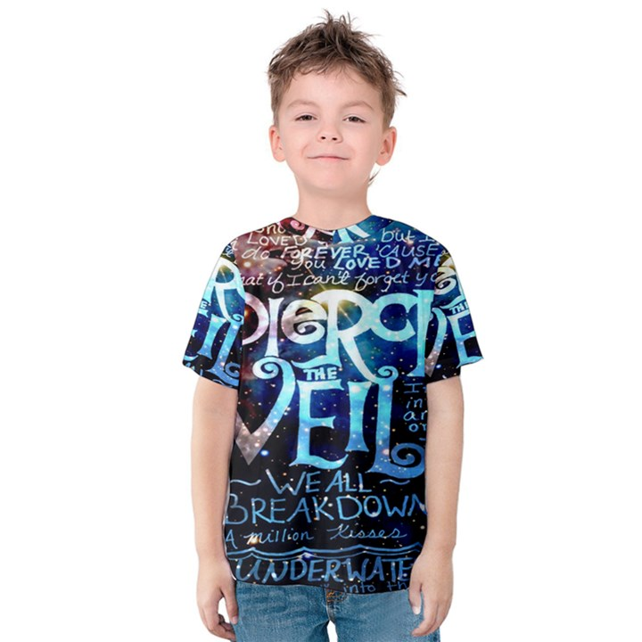 Pierce The Veil Quote Galaxy Nebula Kids  Cotton Tee