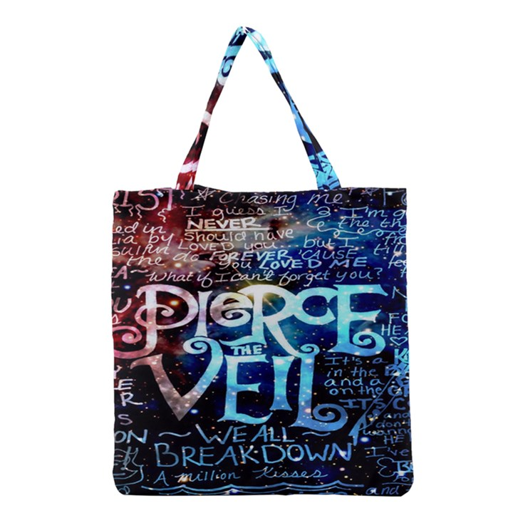 Pierce The Veil Quote Galaxy Nebula Grocery Tote Bag