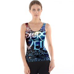 Pierce The Veil Quote Galaxy Nebula Tank Top