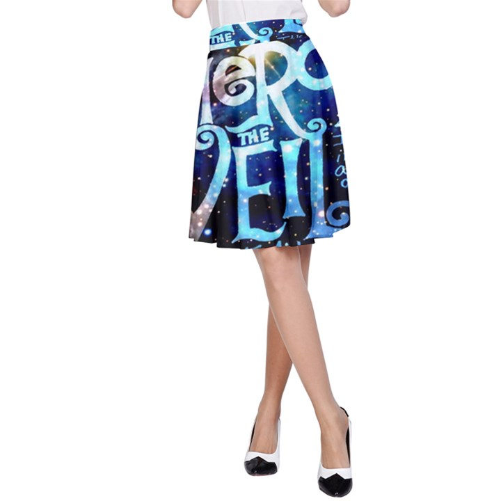 Pierce The Veil Quote Galaxy Nebula A-Line Skirt