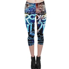 Pierce The Veil Quote Galaxy Nebula Capri Leggings
