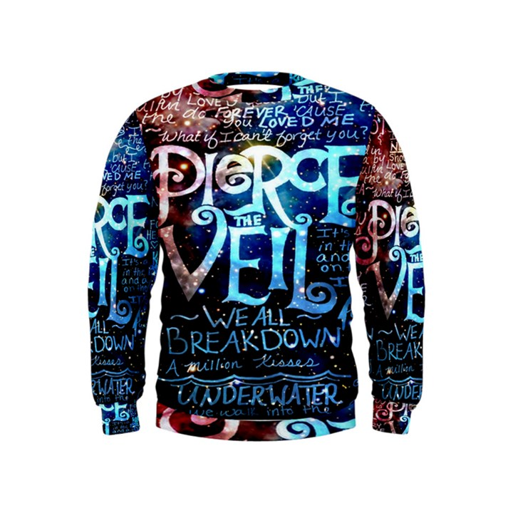 Pierce The Veil Quote Galaxy Nebula Kids  Sweatshirt