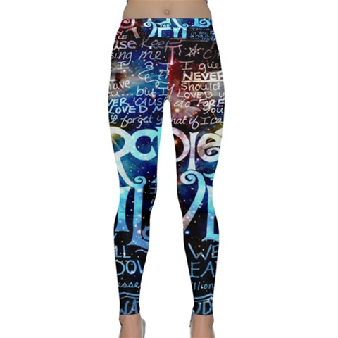 Pierce The Veil Quote Galaxy Nebula Yoga Leggings