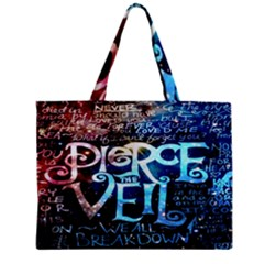 Pierce The Veil Quote Galaxy Nebula Zipper Mini Tote Bag