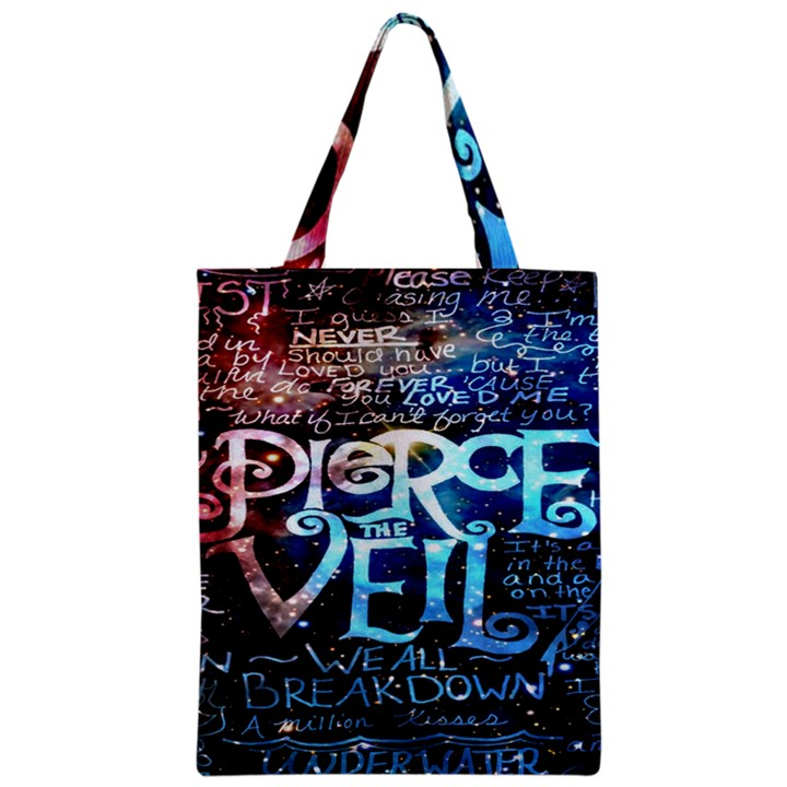 Pierce The Veil Quote Galaxy Nebula Zipper Classic Tote Bag