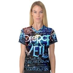 Pierce The Veil Quote Galaxy Nebula Women s V Neck Sport Mesh Tee