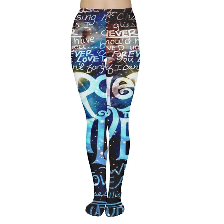 Pierce The Veil Quote Galaxy Nebula Women s Tights