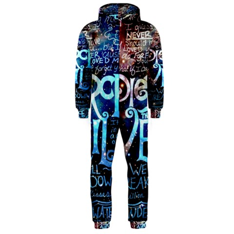 Pierce The Veil Quote Galaxy Nebula Hooded Jumpsuit (Men)