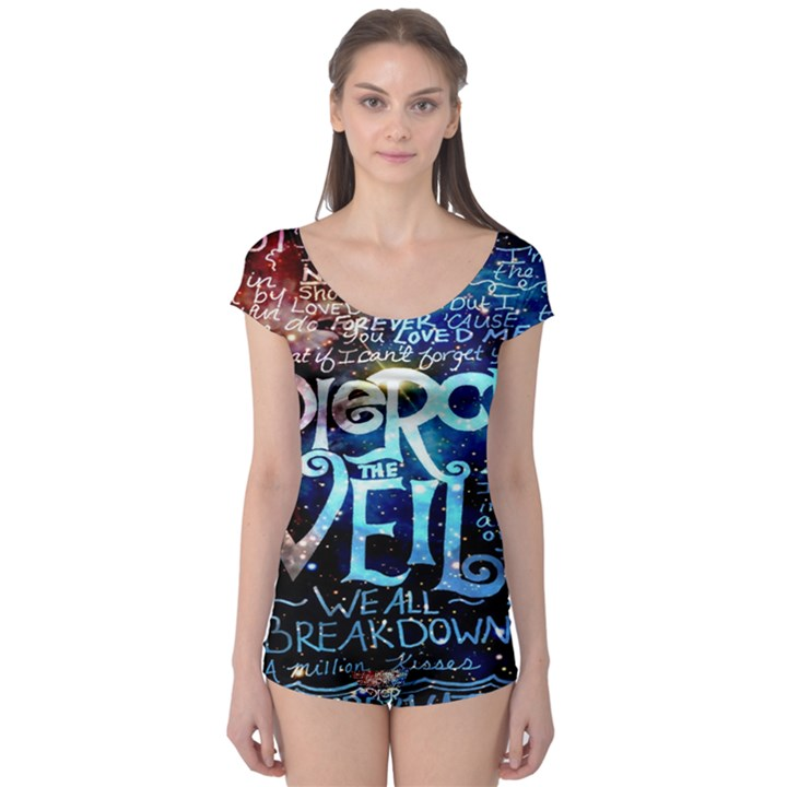 Pierce The Veil Quote Galaxy Nebula Boyleg Leotard