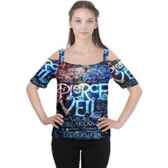 Pierce The Veil Quote Galaxy Nebula Women s Cutout Shoulder Tee