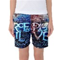 Pierce The Veil Quote Galaxy Nebula Women s Basketball Shorts View1
