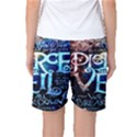Pierce The Veil Quote Galaxy Nebula Women s Basketball Shorts View2