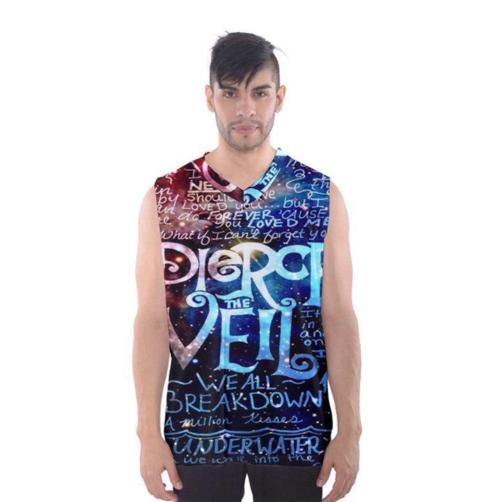 Pierce The Veil Quote Galaxy Nebula Men s Basketball Tank Top