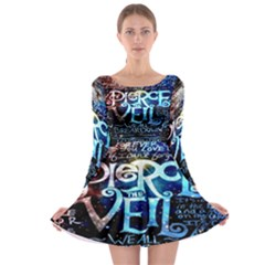 Pierce The Veil Quote Galaxy Nebula Long Sleeve Skater Dress