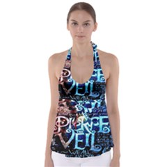 Pierce The Veil Quote Galaxy Nebula Babydoll Tankini Top
