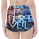 Pierce The Veil Quote Galaxy Nebula High-Waisted Bikini Bottoms View2