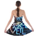 Pierce The Veil Quote Galaxy Nebula Strapless Bra Top Dress View2