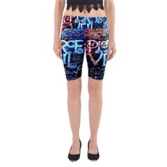 Pierce The Veil Quote Galaxy Nebula Yoga Cropped Leggings