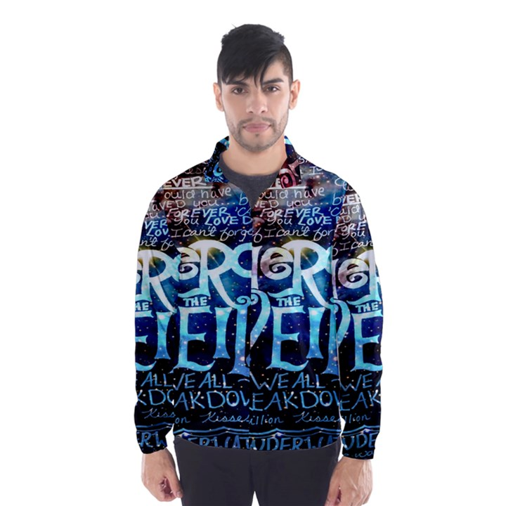 Pierce The Veil Quote Galaxy Nebula Wind Breaker (Men)