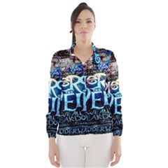 Pierce The Veil Quote Galaxy Nebula Wind Breaker (women)