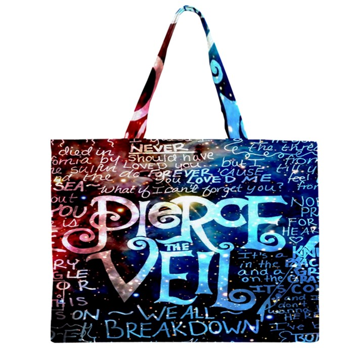 Pierce The Veil Quote Galaxy Nebula Large Tote Bag