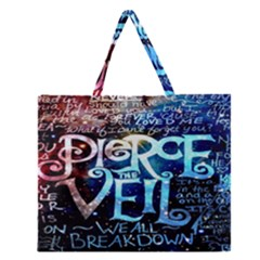 Pierce The Veil Quote Galaxy Nebula Zipper Large Tote Bag