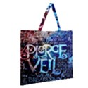Pierce The Veil Quote Galaxy Nebula Zipper Large Tote Bag View2