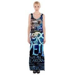 Pierce The Veil Quote Galaxy Nebula Maxi Thigh Split Dress