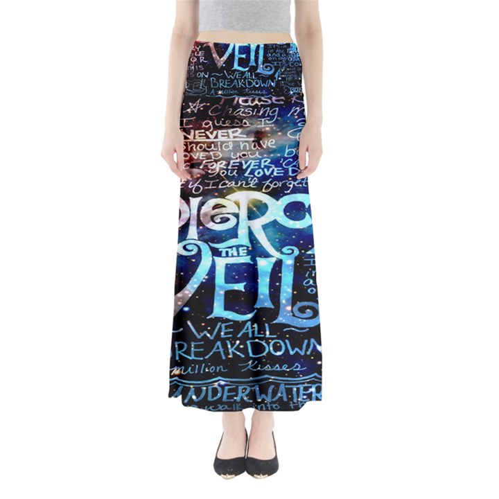 Pierce The Veil Quote Galaxy Nebula Maxi Skirts